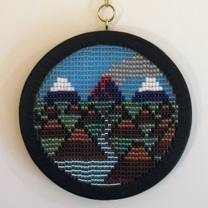 Volcanic Skyline No. 070609 - Wall Hanging by Mike Smetzer
