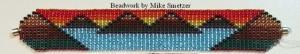 Beadwork by Mike Smetzer - Island Hills at Sunset bracelet made on a bead loom using Miyuki 8/0 glass seed beads